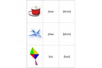 Карточки для английского супертренажера. Слова с аудированием. Программа 1 класса