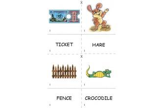 """Кольоровий набір  """"Англійська з Додо"""" із серії «Англійські слова граючи»"""