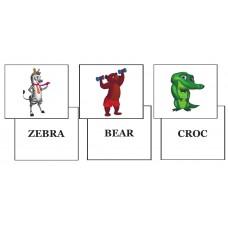 """Комплект навчальних ігор до книги The Wacky Zoo із серії """"Natural Start in English"""""""