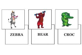 """Комплект обучающих игр к книге The Wacky Zoo из серии """"Natural Start in English"""""""